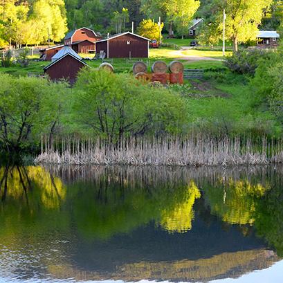 Pass Creek Across Lake