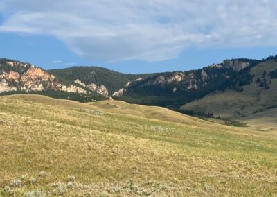 N. Fork Shell Creek Ranch view of Bighorn Mountain foothills
