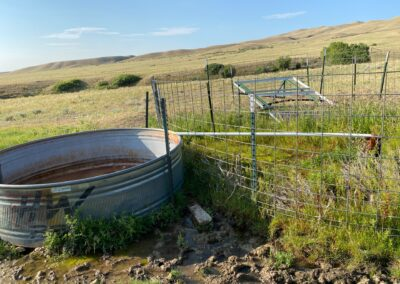 N. Fork Shell Creek Ranch well and water tank